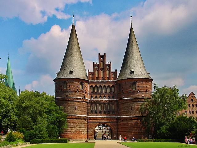 Lübeck, Holstentor (Feldseite)