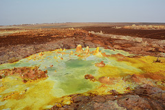 Ethiopia, Danakil Depression, Landscape of the Crater of Dallol Volcano