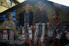 Guatemala, Small Town of San Pedro La Laguna, Mural on the Street