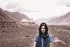 A traveller with a Tibetan hair in Diskit, Ladakh