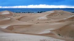 3 Crépuscule (pluie + soleil)  dunes MAROC