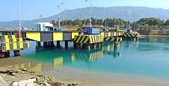 Greece - Poseidonia, 'sinking' bridge