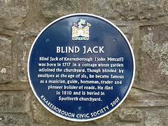 Knaresborough- Blind Jack's Blue Plaque