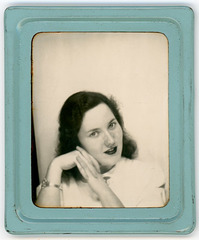 Woman's Photo in Blue Photomatic Frame
