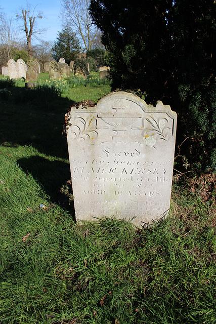 Kersey Memorial in Saint Peter's Churchyard, Yoxford, Suffolk