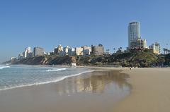 Netanya, Reflection in the Sand on the Herzel Beach