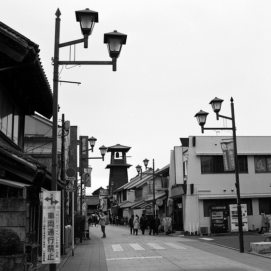 Street with the bell tower