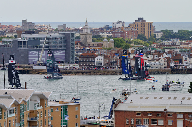 America's Cup racing Portsmouth 2015