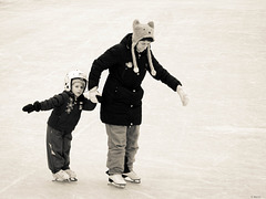 skating lesson one for two