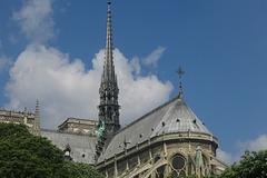 La flèche de Notre-Dame de Paris