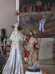 Jesus und Osterkerze