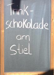 Trinkschokolade am Stiel - trinkĉokolado sur bastoneto