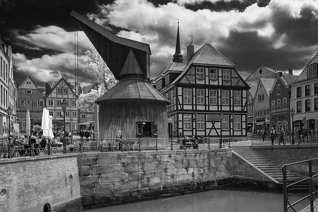 Historischer Hafenkran in Stade - HFF