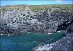 Interesting rock strata at Godrevy