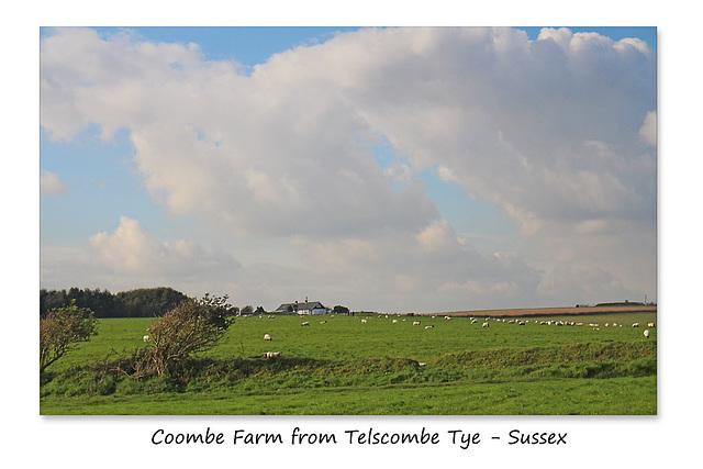 Coombe Farm from Telscombe Tye - 20.10.2015