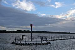 Wedel am Schulauerfährhaus bei Elbeflut