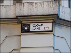 Cloak Lane street sign