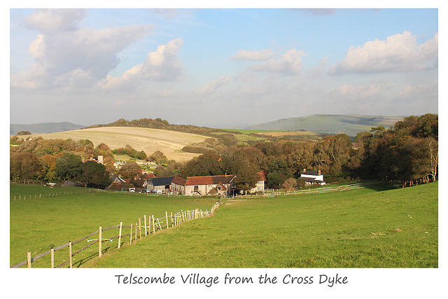 Telscombe Village from the Cross Dyke - 20.10.2015