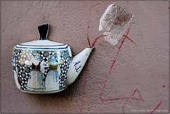 The 50 Images Project - tea bag - 39/50 -tea on the wall