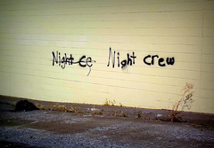 Night Crew can't spell
