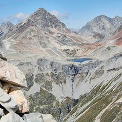 """""""Bunte Landschaft"""" vom Piz Alv 2.975 m"""