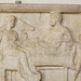 Detail of a Relief Depicting a Funeral Feast in the Palazzo Altemps, June 2012