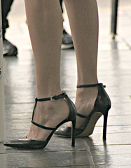 very high strappy heels, nine west