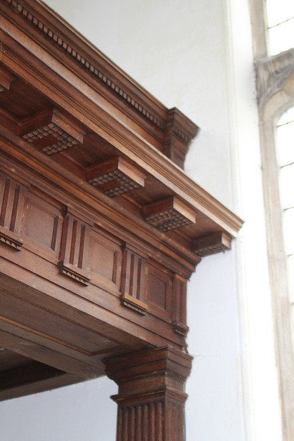 Detail of west gallery, St John the Baptist's Church, Kings Norton, Leicestershire