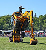Easy does it ....Performing JCB at Belvoir castle steam fair