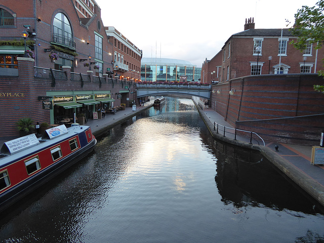 The Birmingham Canals area at Brindley Place
