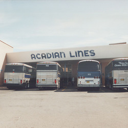 Acadian Lines terminal at Antigonish, Nova Scotia - 7 Sep 1992 (174-01)