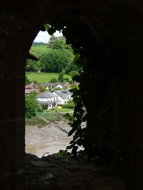 A Glimpse of the River Wye from Chepstow Castle