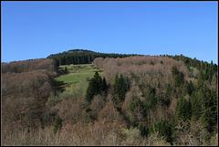 versant de vallée en avril