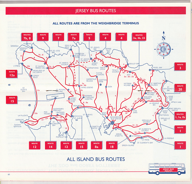 ipernity Jersey bus route map Summer 1999 by David Slater