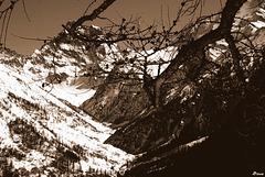 Approche du Mont Viso en hiver
