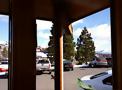 Cars, trees, mountains