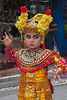 Young girl Legong dancing