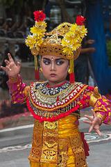 Young girl Legong dancing