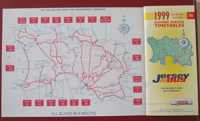 ipernity DSCF4562 Jersey bus route map and timetable cover Summer