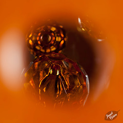 286/366: Peering Through an Orange Bead (+2 in notes)