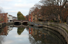 Reflecting on Norwich in the River Wensum