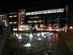 Birmingham's night lights at Brindley Place