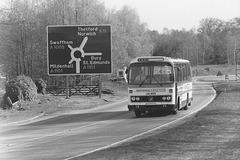 Ambassador Travel JCL 813V at Barton Mills - 28 Apr 1985