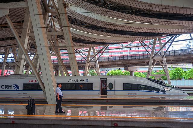 Arrive in Beijing by Fu Xing bullet train