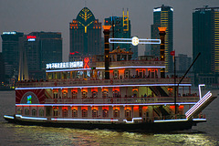 Charming night view on the Huangpu River