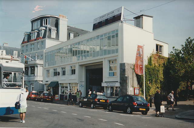 ipernity jersey bus garage in st helier 4 sep 1999 by david slater spoddendale. Black Bedroom Furniture Sets. Home Design Ideas