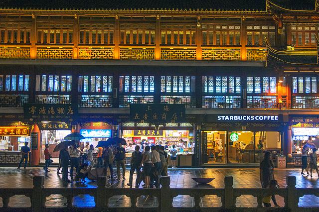Shop line in Yuyuan Garden
