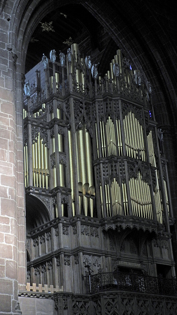 Chester Cathedral Organ pipes