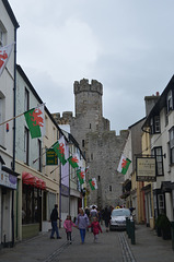 Caernarfon Castle in the Maze of Streets