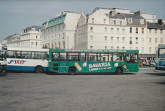 Jersey bus buses at St. Helier - 4 Sep 1999